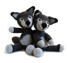 Crochet pattern Wolf amigurumi instant by YukiYarnDesigns