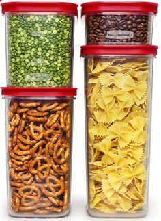 Price: Rubbermaid Modular Canisters keep your pantry and dry foods organized. Featuring a modular design to save space, these food storage containers are made from crystal-clear plastic that resist… Corner Pantry Cabinet, Kitchen Corner, Kitchen Dining, Condo Kitchen, Kitchen Things, Apartment Kitchen, Studio Apartment, Kitchen Stuff, Cupboard
