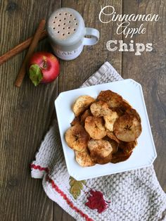 These backed cinnamon apple chips are crunchy, sweet, tasty and absolutely addicting. What's not to love!