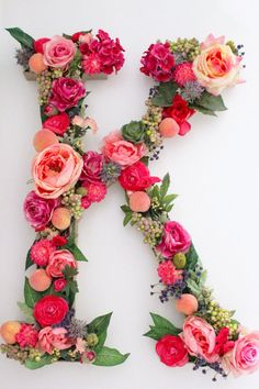 Custom floral letters for a variety of uses- spell out initials, names or a meaningful word! We can do just about any combination of letters