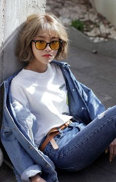 Best party outfit casual summer dates Ideas Lunette Style, Look Street Style, Asian Fashion, Fashion Tips, Grunge Style, Asian Style, Korean Style, Korean Girl, Asian Girl