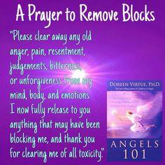 A prayer to release, let go any negativity.