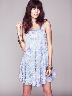 Free People Martini Embellished Trapeze. The embellishments make it worth the splurge, gorgeous in the ivory color.