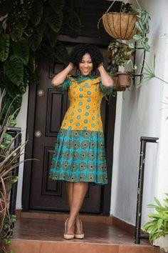 Latest Ankara Dress Styles - Loud In Naija African Print Dresses, African Dresses For Women, African Print Fashion, African Wear, African Attire, African Fashion Dresses, African Women, Classy Short Dresses, African Traditional Dresses