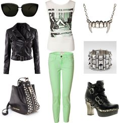 """Attending a Rock Concert Pants Outfit"" by marissa-anne-weddle on Polyvore"