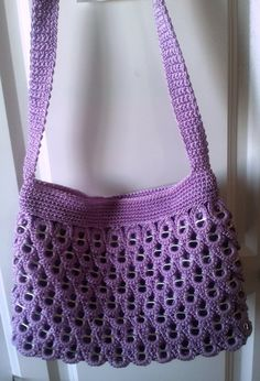 Shoulder Purse Made of recycled soda tabs by findlavender on Etsy, $49.99