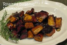 A Spoonful of Thyme-Balsamic Roasted Vegetables