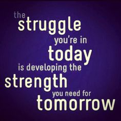 The struggle you're in today is developing the strength you need for tomorrow. #EpilepsyAwareness