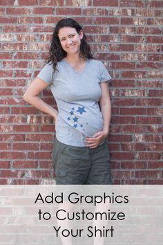 Adding Graphics to Maternity Shirts // DIYMaternity.com
