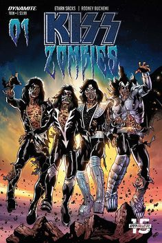 Rock Band Posters, Kiss Art, Hot Band, Heavy Metal Bands, Great Bands, Zombies, Rock N Roll, Album Covers, Marvel Comics