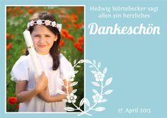 Kartenschiff - Konfirmation - Danksagungskarte Kirchenfest