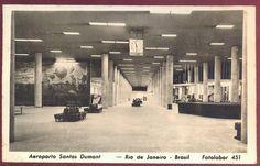 Carto-postal Aeroporto SDU - 1948