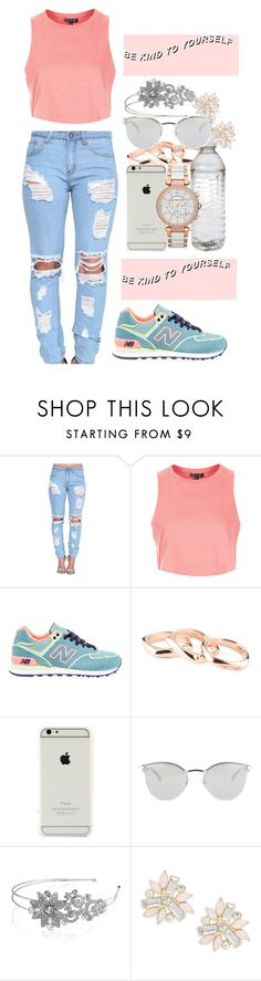 """be kind to yourself"" by lose-myself on Polyvore featuring Topshop, New Balance, Fendi, Michael Kors, Bling Jewelry, Cara, women's clothing, women, female and woman"