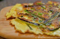 Pajeon 파전 (Green Onion Pancake) - MYKOREANEATS