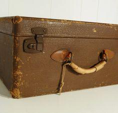 early shabby 40s nurses vintage suitcase luggage by gillardgurl, $50.00