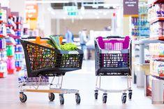 Designový plastový nákupní vozík Salsa lehce a tiše tančí mezi regály. Barevné kombinace odliší obchodníka od každé konkurence.