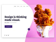 35+ Clean and Creative Website Design ideas for Inspiration    clean and simple website header design idea