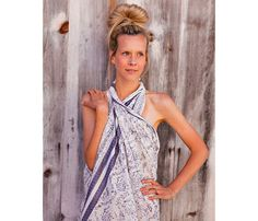 Ways to Rock Your Swimsuit! Your Beach BFF: The sarong. Wrap around your neck in a reverse halter. #SelfMagazine