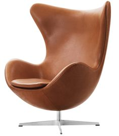 Egg easy chair Arne Jacobsen elegance walnut leather