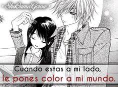 Cuando estas a mi lado #ShuOumaGcrow #Anime #Frases_anime #frases