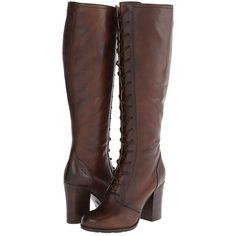 Frye Parker Tall Lace Up Women's Lace-up Boots ($398) ❤ liked on Polyvore featuring shoes, boots, heels, knee-high boots, high heel boots, frye boots, knee high platform boots, lace up high heel boots and platform heel boots