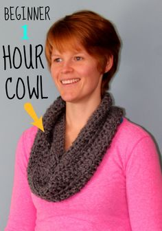 Beginner 1 Hour cowl. NO skill required, anyone can make this, time to cozy up for winter!