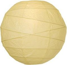 Ivory 14 Inch Premium Round Paper Lantern by Luna Bazaar. $5.50. This ivory paper lantern is made with the finest quality rice paper and bamboo freestyle ribbing. As with all our premium paper lanterns, they can be used with most ceiling fixtures and with most light cords for hanging lanterns. They can also be used with our LED battery lights as convenient, cord-free lighting and decoration for parties, weddings, patios, gardens, and outdoor celebrations. (Ple...