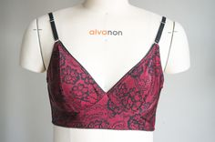 a165df8d0e9 A new Watson Bra using the pattern from Cloth Habit. Made from red lace  print