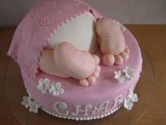 Leneskage.dk: Baby rump kage til barnedåb
