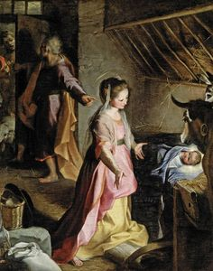 THE NATIVITY OF JESUS IN BETHLEHEM •• (Luke 2: 6-12) Federico Fiori Barocci  1597 Prado Madrid