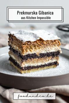 Kitchen Impossible in Slowenien: Tim Mälzer backt das Nationalgericht Prekmurska Gibanica - ein Schichtkuchen mit Walnüssen, Mohn, Apfel und Quark. #kitchenimpossible #vox #timmälzer #kuchenbacken