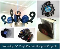 10 DIY vinyl record upcycle projects.... best 'ways with vinyl' tutorials i have seen yet..
