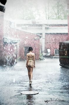 Interesting concept Boudoir Rain Outside Walking In The Rain, Singing In The Rain, I Love Rain, Summer Rain, Boudoir Photography, Pictures, Outdoor, Image, It's Raining