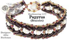 Papyrus 2 Bracelet FREE Tutorial by Allie Buchman from Potomac Bead Company