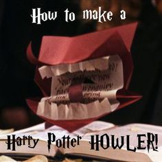 Harry Potter Howler - how to make it. great for all of us Harry Potter fans Harry Potter Navidad, Harry Potter Weihnachten, Décoration Harry Potter, Classe Harry Potter, Howler Harry Potter, Harry Potter Gift Box, Harry Potter Fun Facts, Harry Potter Birthday Cards, Harry Potter Invitations