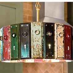Diy light made from old door knob plates