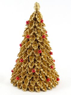 Christmas Decorations – Christmas tree with pasta – a unique product by Zielonepalce on DaWanda