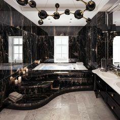 Dream House Interior, Luxury Homes Dream Houses, Dream Home Design, Modern House Design, Home Interior Design, Modern Mansion Interior, Luxury Interior, Interior Ideas, Dream Bathrooms