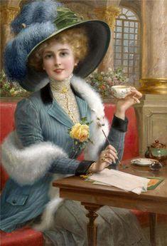 Émile Vernon (1872-1919) — Elegant Lady (830×1216)
