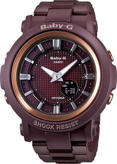 Vintage inspired Baby-G BG301 in a beautiful plum color <3