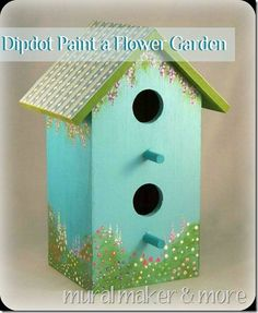 Hello, my friends! It's been a while, hasn't it? Well, I wasn't taking a vacay, believe me. I've been 'hanging out' with some VIBs (very important bloggers), which has been so much fun! Since I've been in a dipdot frame o' mind, I painted a flower garden on this little birdhouse. You can check out …