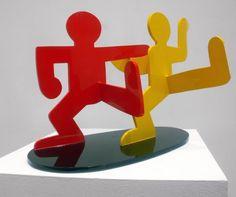 Keith Haring | Two Dancing Figures (1989) | Artsy
