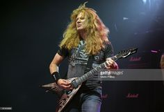 Dave Mustaine of Megadeth performs on stage in concert at the Festival Hall on October 9, 2009 in Melbourne, Australia.