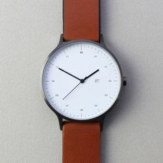 Brown Leather Strap Watch