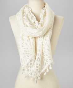Ivory Lace Scarf