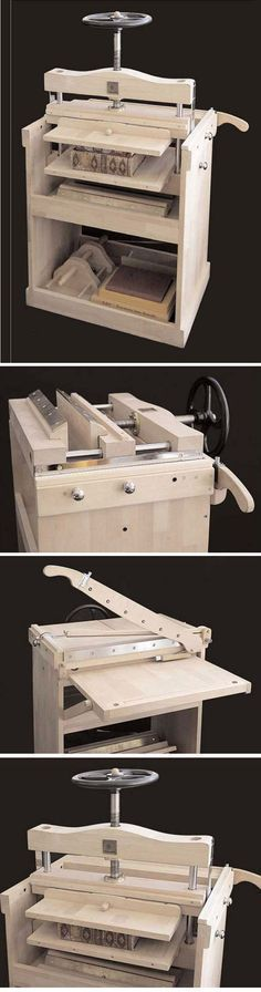 7 in 1 Book Binding Press by Omnia Libris http://www.edenworkshops.com/7_in_1_Press.html
