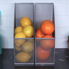 The way these fruits and veggies are neatly color-coordinated in their file folders will bring you so much joy. | Organizing Your Kitchen With File Folders Is So Easy And Satisfying