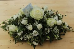 Double ended spray Funeral Sprays, Goa, Flower Arrangements, Christmas Wreaths, Floral Wreath, College, Flowers, Design, Home Decor