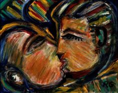 Rubens Gerchman Blue Kiss - ost 2006 - 40 x 60