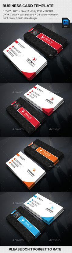 Corner Business Card - Business Card Template PSD. Download here: http://graphicriver.net/item/corner-business-card/11867906?s_rank=1795&ref=yinkira